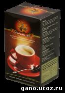растворимый черный кофе с ганодермой, сливки, тростниковый сахар