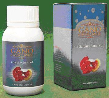 Gano eWorldwide i Garcino Enriched комбинация натуральных тропических фруктов и Ganoderma Lucidum